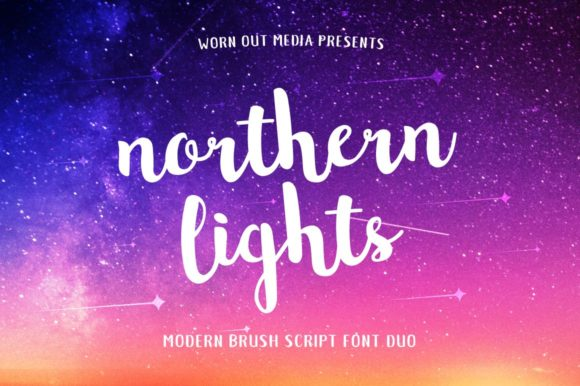 Print on Demand: Northern Lights Manuscrita Fuente Por wornoutmedia