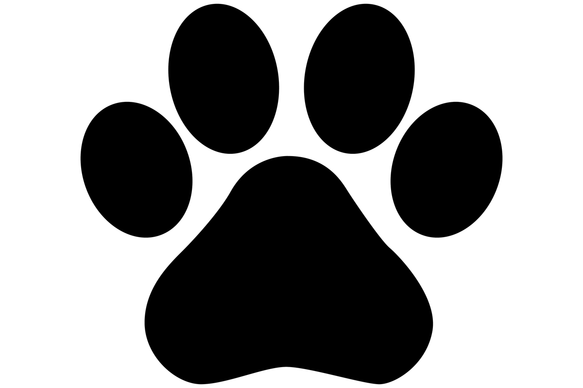 Download Free Dog Paw Print Silhouette Graphic By Idrawsilhouettes Creative for Cricut Explore, Silhouette and other cutting machines.