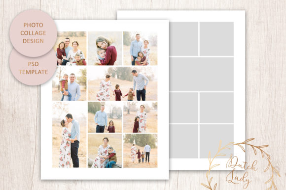 Print on Demand: PSD Photo & Image Collage Template #3 Graphic Print Templates By daphnepopuliers