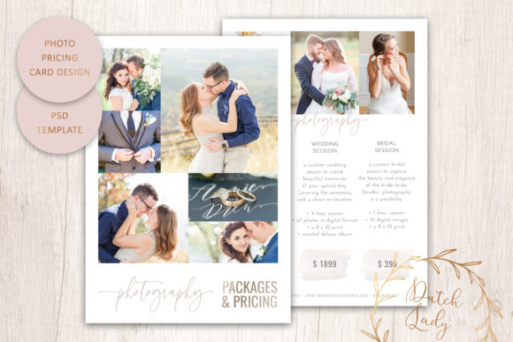 Print on Demand: PSD Photography Price Card Template #15 Graphic Print Templates By daphnepopuliers