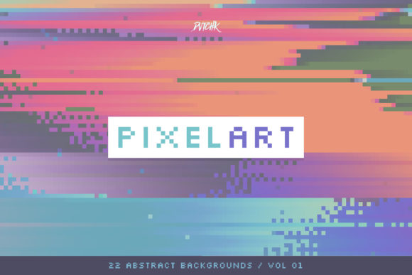 Pixel Art Colorful Backgrounds V. 01 Graphic Backgrounds By dvtchk