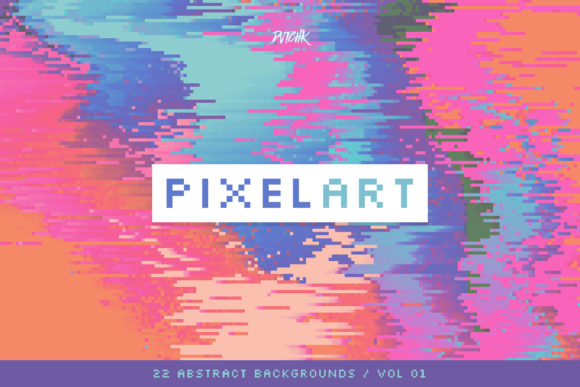 Pixel Art Colorful Backgrounds V. 01 Graphic Backgrounds By dvtchk - Image 5