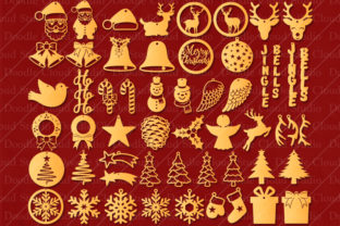 51 Earring SVG Christmas Bundle Graphic By Doodle Cloud Studio