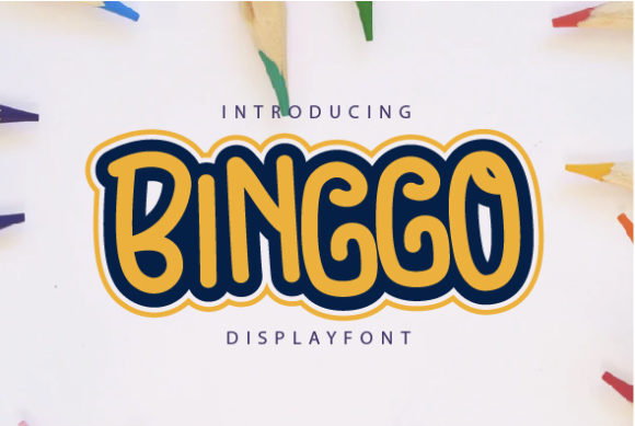 Print on Demand: Binggo Display Font By OKEVECTOR - Image 1