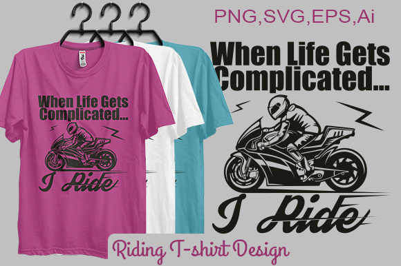 Riding T-shirt Design (Print-ready File) Graphic By bsakib777 Image 1