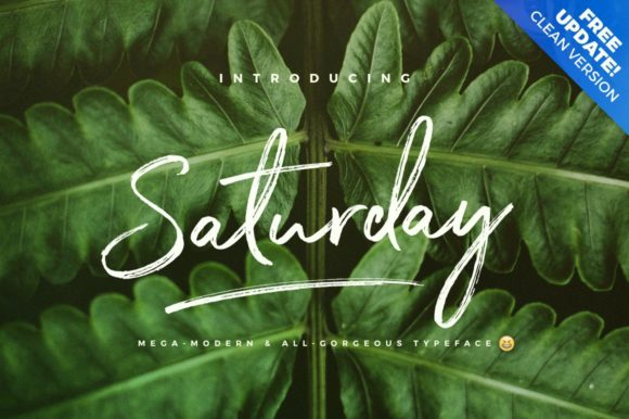 Print on Demand: Saturday Script & Handwritten Font By wornoutmedia