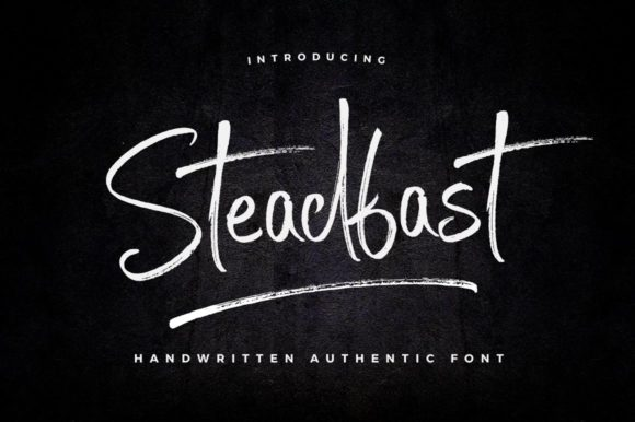 Print on Demand: Steadfast Script & Handwritten Font By wornoutmedia