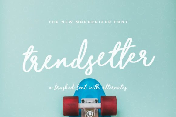 Print on Demand: Trendsetter Script & Handwritten Font By wornoutmedia