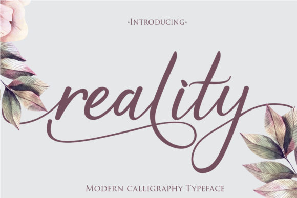 Print on Demand: Reality Script & Handwritten Font By Gilar Studio