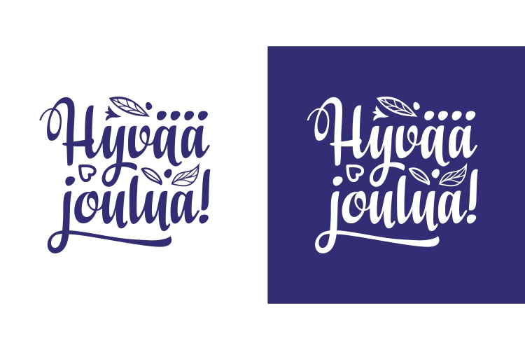 Download Free Finnish Text Christmas In Finland Hyvaa Graphic By Zoyali for Cricut Explore, Silhouette and other cutting machines.