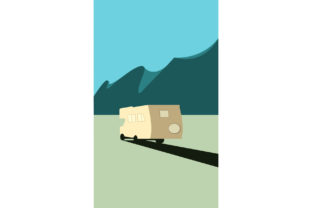 Camping in the Mountains. Graphic By Sasha_Brazhnik