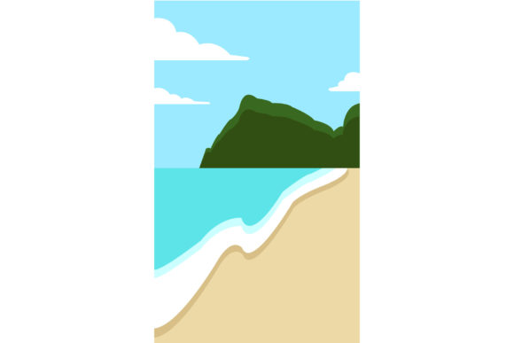 Seaside. Graphic Illustrations By Sasha_Brazhnik