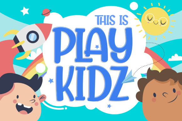 Playkidz Display Font By figuree studio