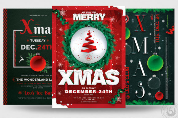 Christmas Eve Flyer Bundle V2 Graphic By ThatsDesignStore