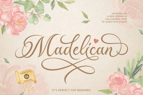 Print on Demand: Madelican Script & Handwritten Font By Subectype - Image 1