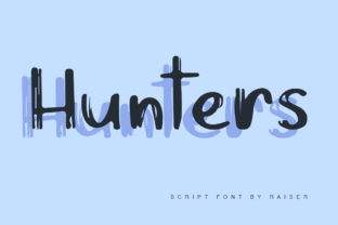 Download Free Hunters Font By Allison Creative Fabrica for Cricut Explore, Silhouette and other cutting machines.