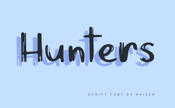 Print on Demand: Hunters Script & Handwritten Font By Allison