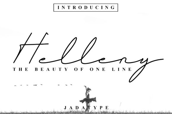 Print on Demand: Helleny Script & Handwritten Font By jadatype