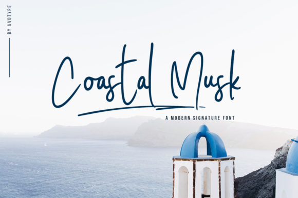 Print on Demand: Coastal Musk Script & Handwritten Font By Avotype