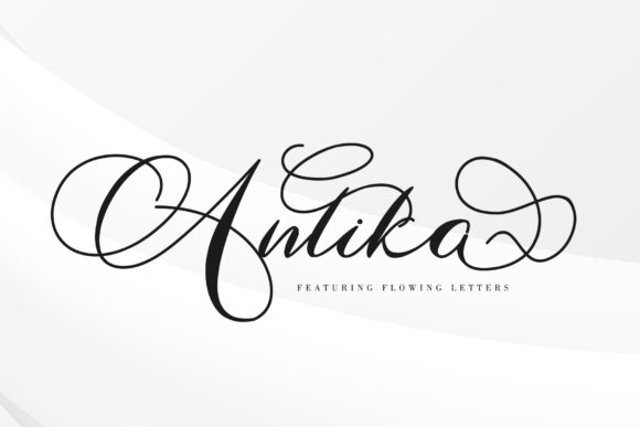 Print on Demand: Antika Script & Handwritten Font By thomasaradea