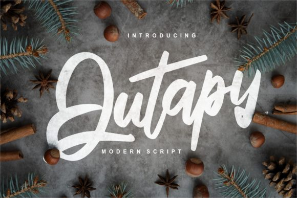 Print on Demand: Qutapy Script & Handwritten Font By Vunira