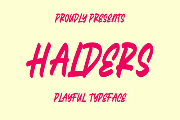 Print on Demand: Halders Display Font By Bangkit Setiadi