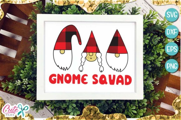 Gnome Squad Christmas Graphic Illustrations By Cute files - Image 1