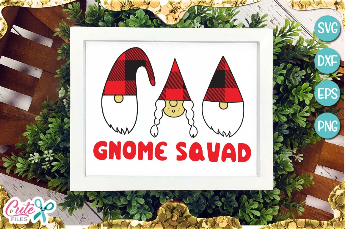 Download Free Gnome Squad Christmas Graphic By Cute Files Creative Fabrica for Cricut Explore, Silhouette and other cutting machines.