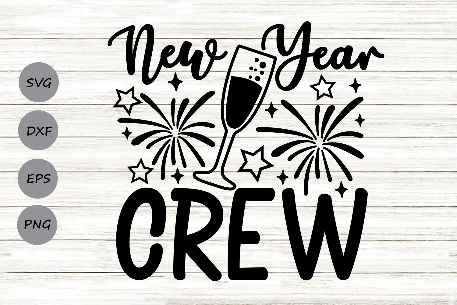 Download Free New Year Crew Graphic By Cosmosfineart Creative Fabrica for Cricut Explore, Silhouette and other cutting machines.