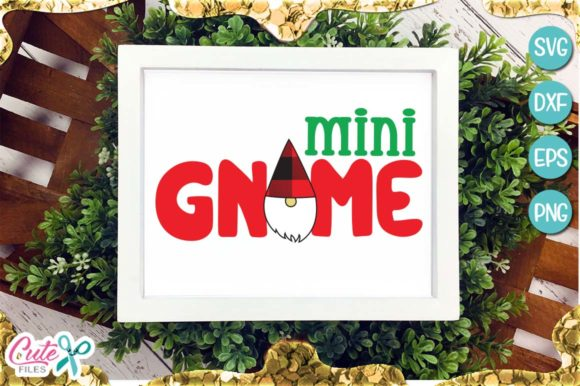 Mini Gnome Buffalo Plaid Christmas Graphic Illustrations By Cute files - Image 1