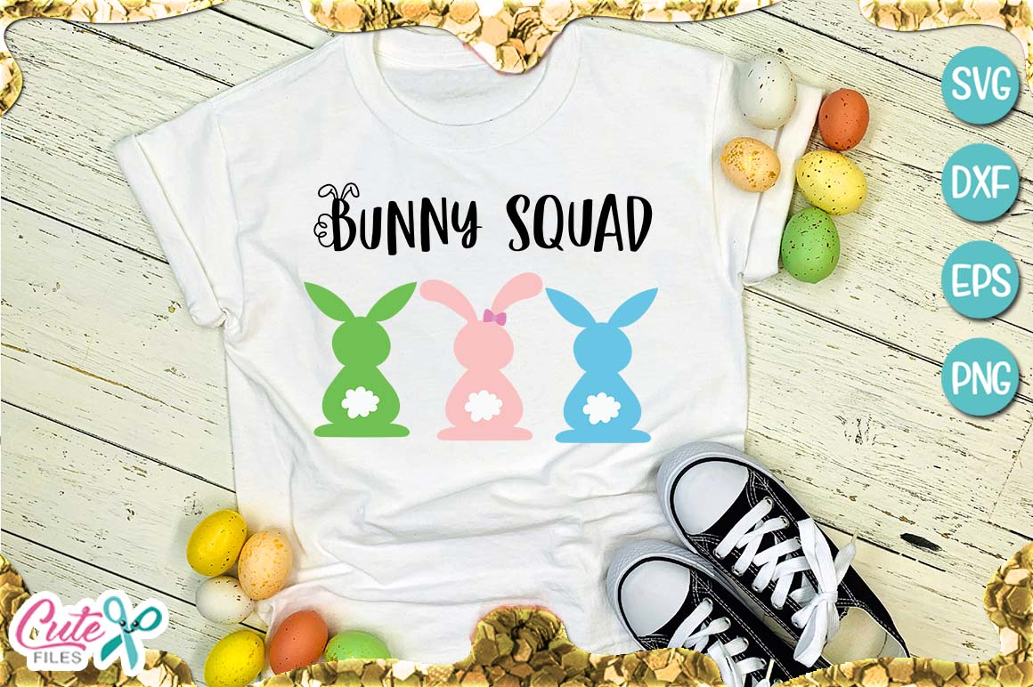 Download Free Bunny Squad Graphic By Cute Files Creative Fabrica for Cricut Explore, Silhouette and other cutting machines.
