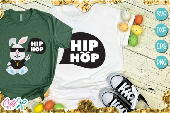 Hip Hop Bunny Easter Graphic Illustrations By Cute files