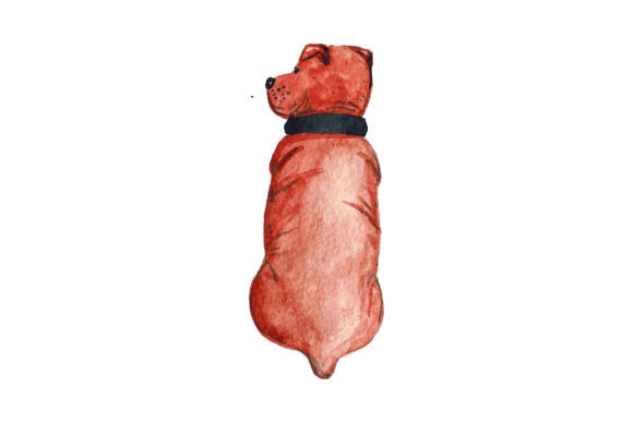 Staffordshire Bull Terrier from Behind - Ginger Colored Watercolor Dogs Craft Cut File By Creative Fabrica Crafts - Image 1