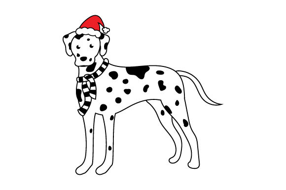 Christmas Dalmation Christmas Craft Cut File By Creative Fabrica Crafts