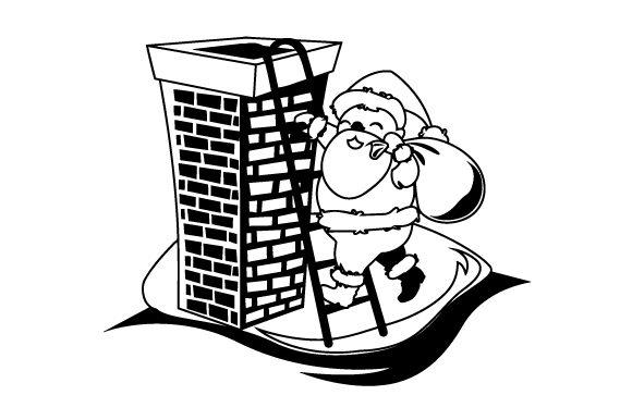 Download Free Santa Climbing Ladder Up To Chimney Svg Cut File By Creative for Cricut Explore, Silhouette and other cutting machines.