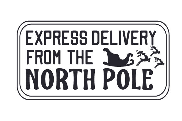 Express Delivery from the North Pole Cut File Download