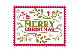 Christmas Stamp Christmas Craft Cut File By Creative Fabrica Crafts
