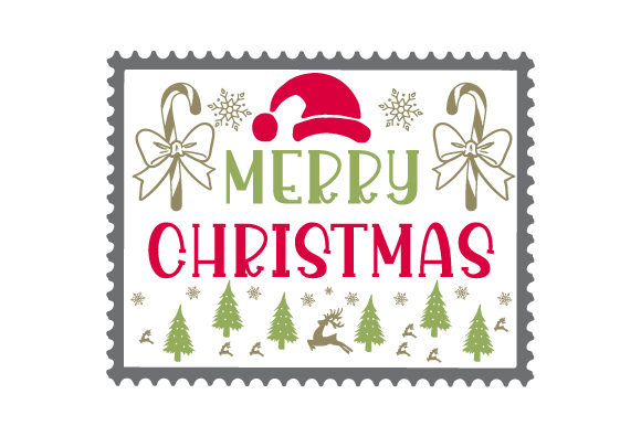 Christmas Stamp Craft Design von Creative Fabrica Crafts