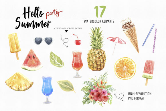 Print on Demand: Watercolor Women on Summer Beach Party Graphic Illustrations By SapG Art - Image 3