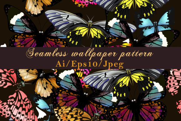 Fashion Vector Pattern with Butterflies Graphic By fleurartmariia