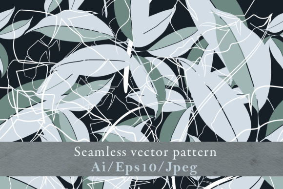 Abstract Fashion Floral Vector Pattern Graphic By fleurartmariia