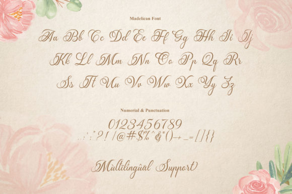 Print on Demand: Madelican Script & Handwritten Font By Subectype - Image 3
