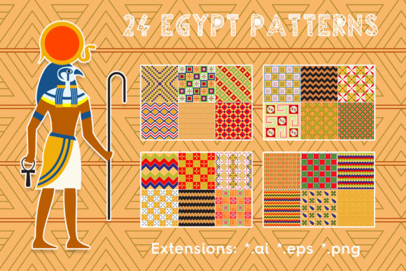 24 Egypt Patterns Graphic Patterns By Textures