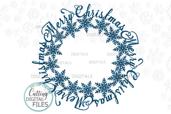 Merry Christmas Snowflakes Graphic Crafts By Cornelia
