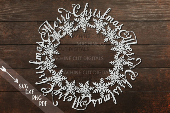 Merry Christmas Snowflakes Graphic Crafts By Cornelia - Image 3