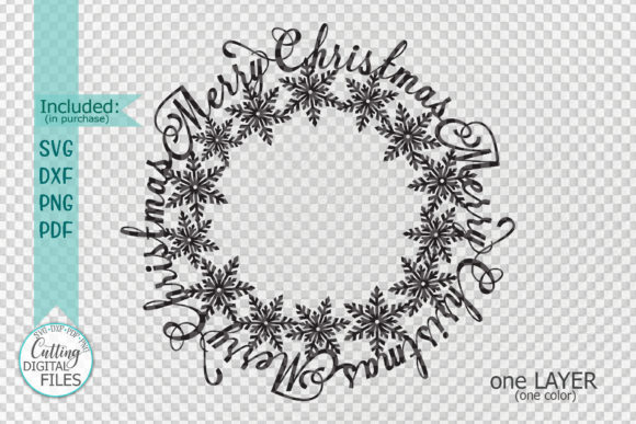 Merry Christmas Snowflakes Graphic Crafts By Cornelia - Image 4