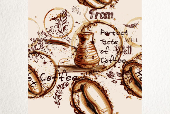 Download Free Coffee Vector Pattern Illustration Graphic By Fleurartmariia Creative Fabrica for Cricut Explore, Silhouette and other cutting machines.