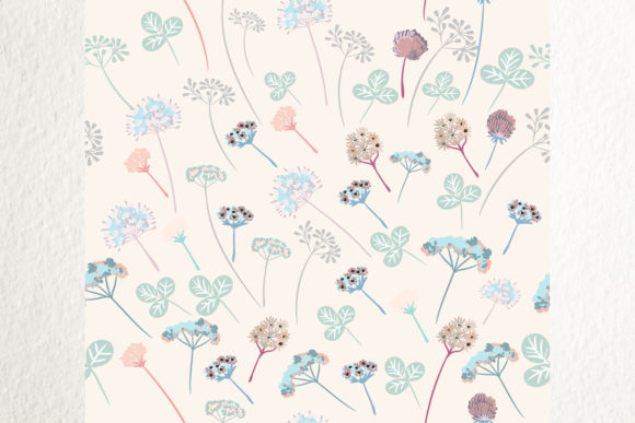 Download Free Floral Vector Pattern Rustic Flowers Graphic By Fleurartmariia for Cricut Explore, Silhouette and other cutting machines.