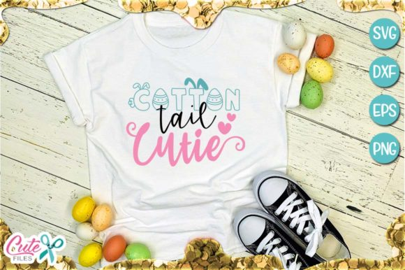 Download Free Cotton Tail Cutie Easter Graphic By Cute Files Creative Fabrica for Cricut Explore, Silhouette and other cutting machines.