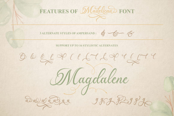 Print on Demand: Madelican Script & Handwritten Font By Subectype - Image 4